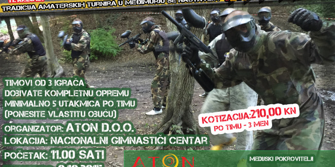 "Amaterski Paintball turnir ""ATON PAINTBALL TOURNAMENT 2015"""