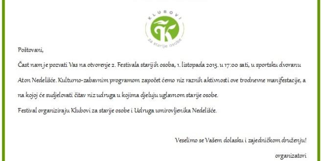 2. festival starijih osoba u Nedelišću