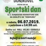 plakat_UZ Dunjkovec SPORTSKI DAN 2019